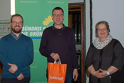 Sebast6ian Strumann, Prof. Dr. Niko Paech und Jutta Maybaum