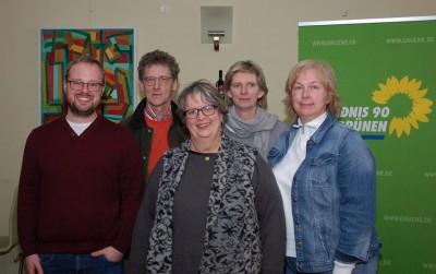 (v. l. n. r.):  Sebastian Strumann, Hendrik Flöttmann, Jutta Maybaum, Ilona Kottmann-Fischer und Dr. Stefani Konstanti